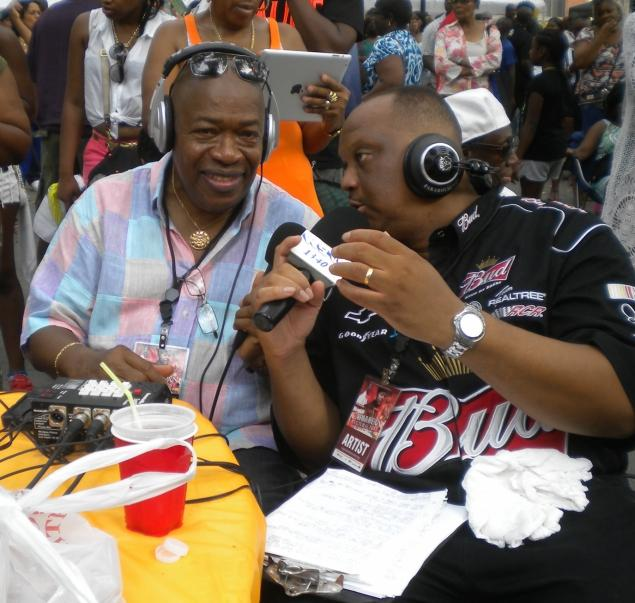 <p>&#10;&#9;Caribbean Cultural Fest co-host Kevin Hughes (r.),&nbsp; former president of the Virgin Islanders United chats with USVI's Addie Ottley of 1340 AM WSTA radio in St. Thomas during the Sept. 1 Harlem festival.</p>&#10;<p>&#10;&#9;<jaredmccallister@gmail.com> </jaredmccallister@gmail.com></p>&#10;